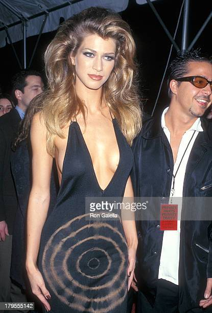 Model Amber Smith attends the 'Private Parts' New York City Premiere on February 27 1997 at Madison Square Garden in New York City