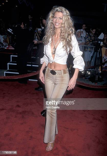 Model Amber Smith attends the 'Tomcats' Universal City Premiere on March 28 2001 at Universal City Walk 18 Theatres in Universal City California