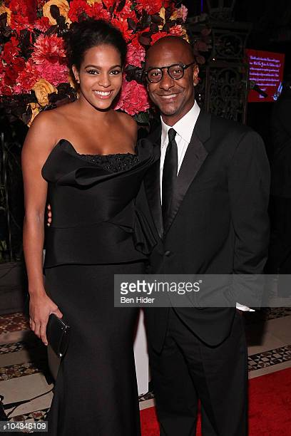 Model Amber Tolliver and CEO of BET Stephen Hill attend the 2010 New Yorkers For Children Fall Gala at Cipriani 42nd Street on September 21 2010 in...