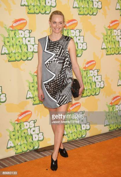 Model Amber Valetta arrives at Nickelodeon's 2009 Kids' Choice Awards at UCLA's Pauley Pavilion on March 28 2009 in Westwood California
