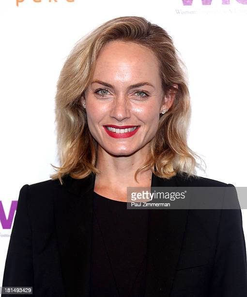 Model Amber Valetta attends the 4th Annual WIE Symposium at Center 548 on September 21 2013 in New York City