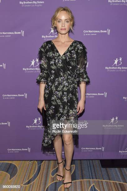 Model Amber Valletta arrives at the Big Brothers Big Sisters of Greater Los Angeles Annual Accessories for Success Scholarship Luncheon at the...