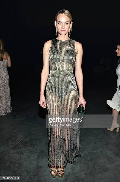 Model Amber Valletta attends The Art of Elysium 2016 HEAVEN Gala presented by Vivienne Westwood Andreas Kronthaler at 3LABS on January 9 2016 in...