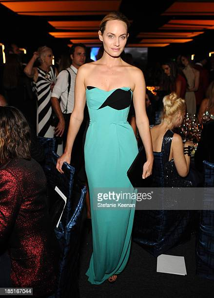 Model Amber Valletta wearing Ferragamo attends the Wallis Annenberg Center for the Performing Arts Inaugural Gala presented by Salvatore Ferragamo at...