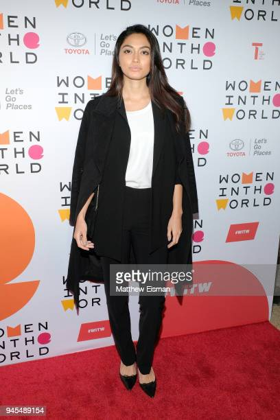 Model Ambra Battilana Gutierrez attends the 2018 Women In The World Summit at Lincoln Center on April 12 2018 in New York City