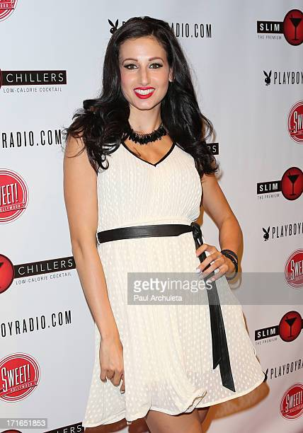 Model Amie Nicole attends the Birthday Party for Playboy Radio and TV Personality Jessica Hall at Sweet Candy store on June 26, 2013 in Hollywood,...