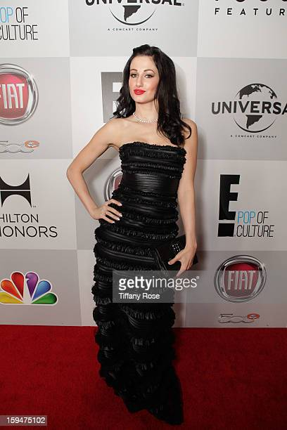 Model Amie Nicole attends the NBC/Universal/Focus Features/E! Networks Golden Globe Awards Celebration Designed And Produced By Angel City Designs at...