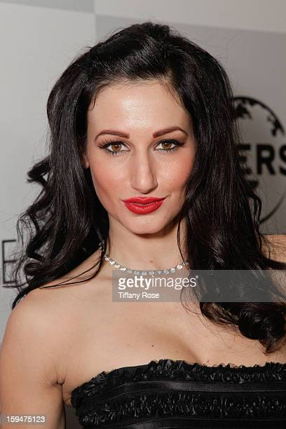 Model Amie Nicole attends the NBC/Universal/Focus Features/E Networks Golden Globe Awards Celebration Designed And Produced By Angel City Designs at...