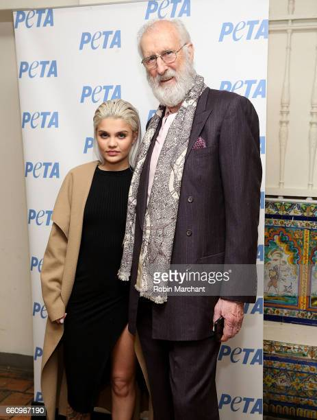 Model Amina Blue Unveils New PETA Campaign with actor James Cromwell at West Side YMCA on March 30 2017 in New York City
