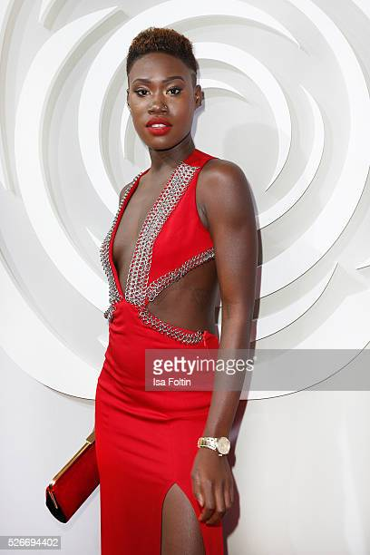 Model Aminata Sanogo attends the Rosenball 2016 on April 30 2016 in Berlin Germany