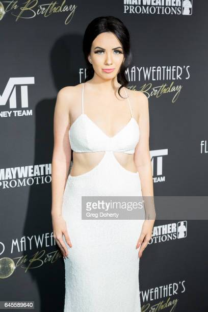 Model Amy Boiss attends Floyd Mayweather's 40th Birthday Celebration on February 25 2017 in Los Angeles California