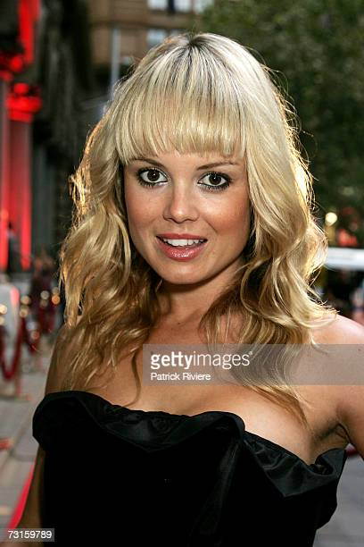 Model Amy Erbacher attends the launch of Hotel Campari an exhibition of art and advertising with imagery from the new collectible 2007 Campari...
