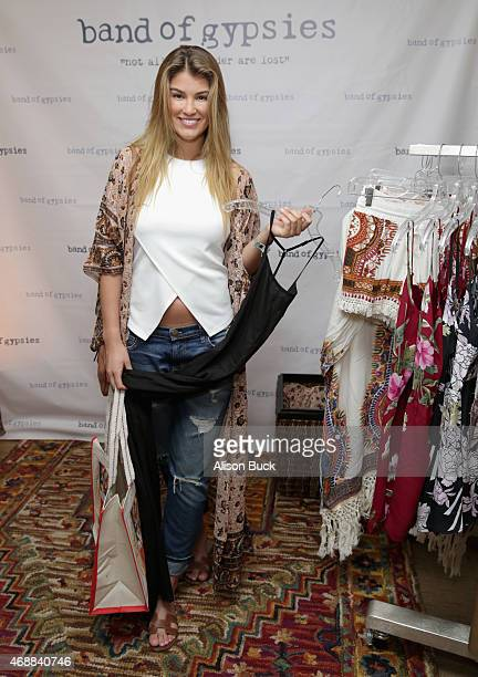 Model Amy Willerton attends Kari Feinstein's Music Festival Style Lounge at Sunset Marquis Hotel Villas on April 7 2015 in West Hollywood California