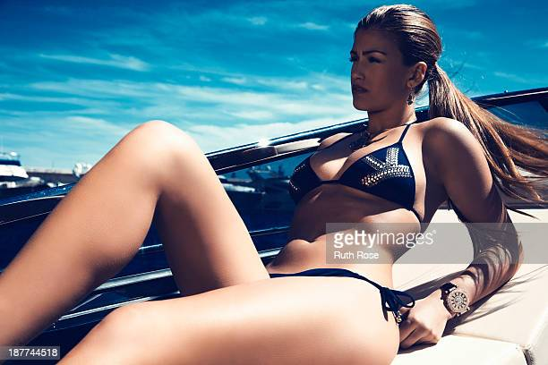 Model Amy Willerton is photographed for Tempus magazine on April 22 2012 in Monaco Monaco