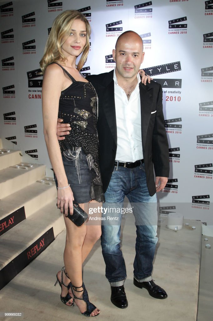 Model Ana Beatriz Barros (L) and Replay's CEO Matteo Sinigaglia arrive at the Replay Party during the 63rd Annual Cannes Film Festival at Style Star Lounge on May 19, 2010 in Cannes, France.