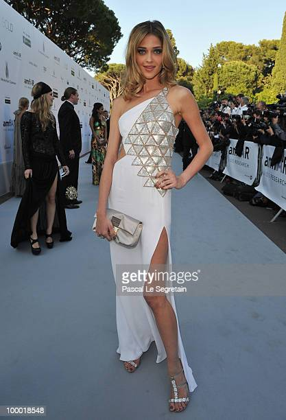 Model Ana Beatriz Barros arrives at amfAR's Cinema Against AIDS 2010 benefit gala at the Hotel du Cap on May 20 2010 in Antibes France