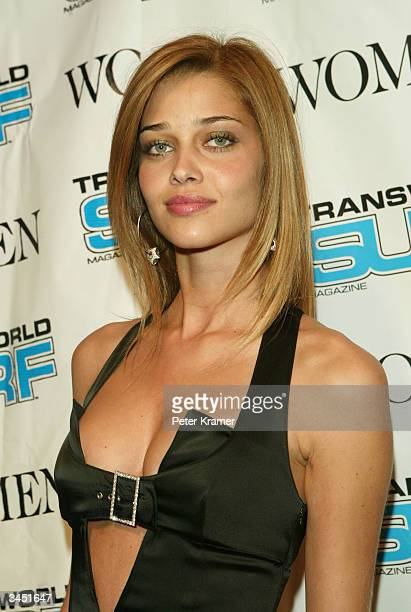 Model Ana Beatriz Barros attends the 2004 Transworld SURF magazine swimsuit special featuring Women Management Models April 20 2004 in New York City