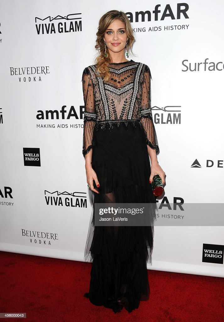 Model Ana Beatriz Barros attends the amfAR Inspiration Gala at Milk Studios on December 12, 2013 in Hollywood, California.