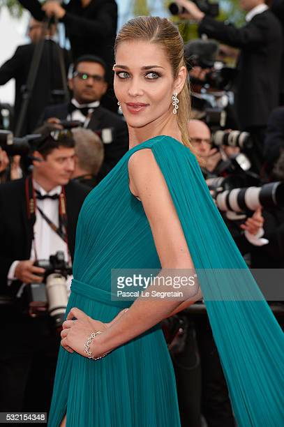 Model Ana Beatriz Barros attends 'The Unknown Girl ' Premiere during the 69th annual Cannes Film Festival at the Palais des Festivals on May 18 2016...