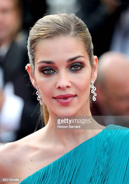 Model Ana Beatriz Barros attends The Unknown Girl Premiere during the 69th annual Cannes Film Festival at the Palais des Festivals on May 18 2016 in...