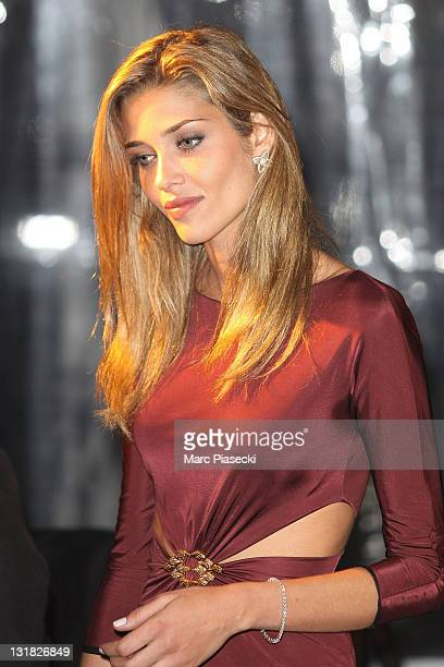 Model Ana Beatriz Barros leaves the private dinner on 'Cavalli' yacht on May 18 2011 in Cannes France
