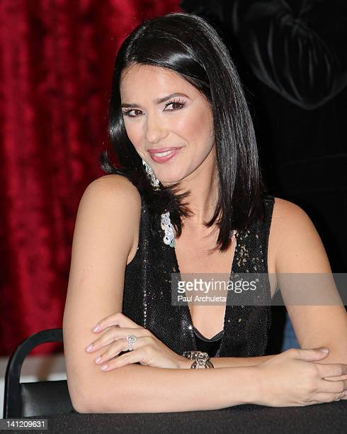 Model Ana Carolina Da Fonseca attends the Estrella TV's Hit dance series 'Mi Sueno Es Bailar' season 3 press conference at Liberman Broadcasting on...