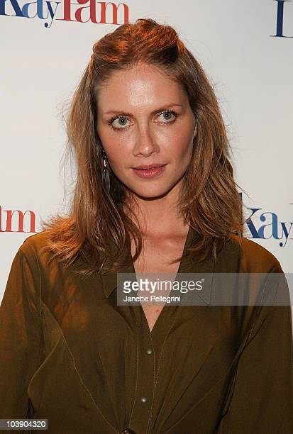 Model Ana Claudia Michaels attends the LakayPAM Awareness Fundraising Event for the Haiti Earthquake Relief at Opera Gallery on September 7 2010 in...