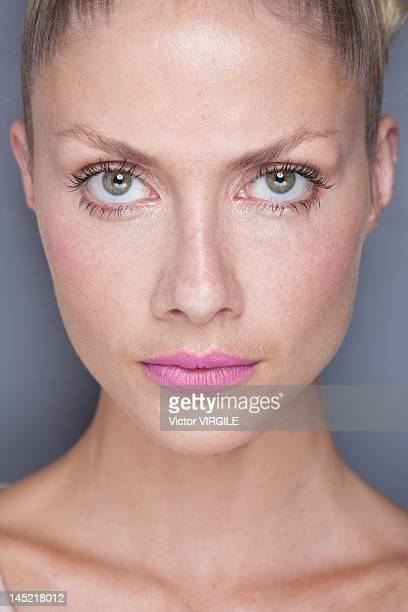 Model Ana Claudia Michels in backstage during the Salinas show as part of the Rio de Janeiro Fashion Week Spring Summer 2013 on May 23 2012 in Rio De...
