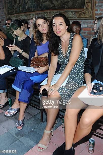 Model Ana Kras and Tanja Diklic attends the Rodebjer fashion show during MercedesBenz Fashion Week Spring 2015 at The Bowery Hotel on September 5...