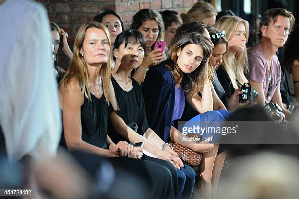 Model Ana Kras attends the Rodebjer fashion show during MercedesBenz Fashion Week Spring 2015 at The Bowery Hotel on September 5 2014 in New York City