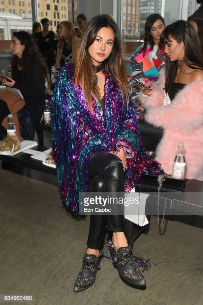Model Ana Tanaka attends Verdad fashion show at Pier 59 during New York Fashion Week at Pier 59 on February 12 2017 in New York City