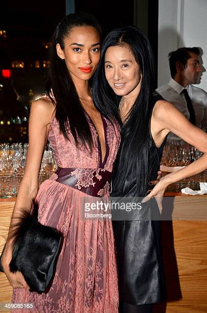 Model Anais Mali left and designer Vera Wang attend the Council of Fashion Designers of America/Vogue Fashion Fund awards at Spring Studios in New...