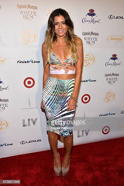 Model Anastasia Ashley attends Club SI Swimsuit at LIV Nightclub hosted by Sports Illustrated at Fontainebleau Miami on February 19 2014 in Miami...