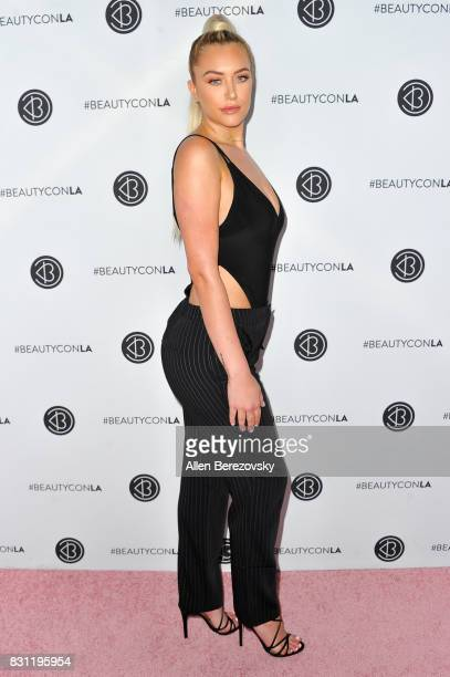 Model Anastasia Karanikolaou attends the 5th Annual Beautycon Festival Los Angeles at Los Angeles Convention Center on August 13 2017 in Los Angeles...