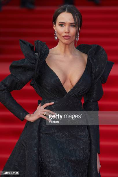 Model Anastasia Reshetova attends opening of the 40th Moscow International Film Festival at Pushkinsky Cinema on April 19 2018 in Moscow Russia