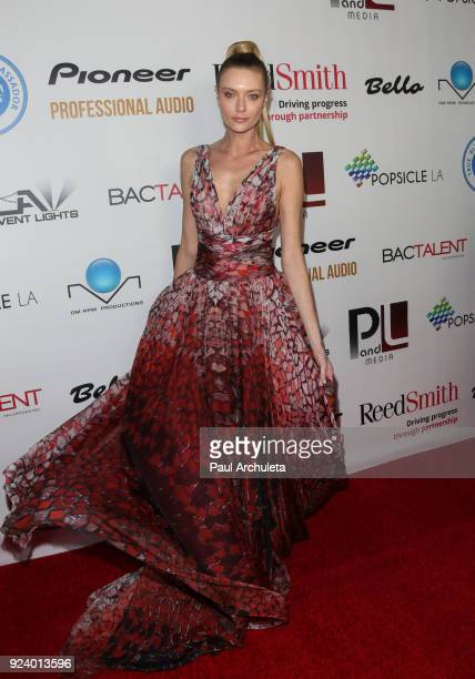 Model Anastassija Makarenko attends the Gifting Your Spectrum gala benefiting Autism Speaks on February 24 2018 in Hollywood California