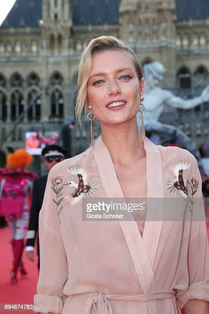 Model Anastassija Makarenko girlfriend of Mickey Rourke during the Life Ball 2017 at City Hall on June 10 2017 in Vienna Austria