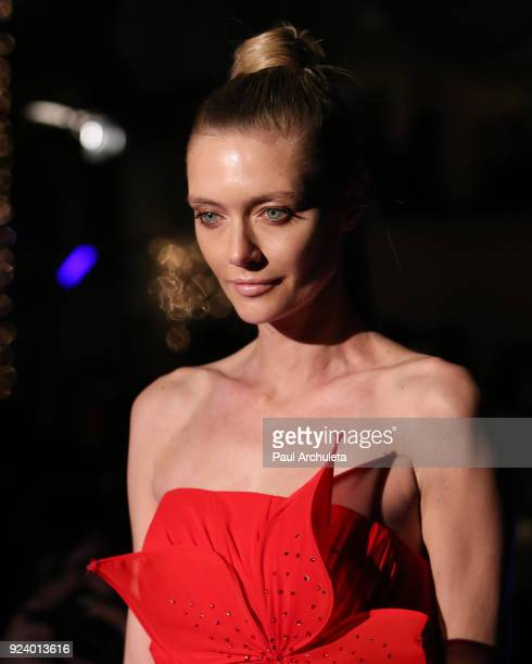 Model Anastassija Makarenko walks the runway at the 'Gifting Your Spectrum' gala benefiting Autism Speaks on February 24 2018 in Hollywood California