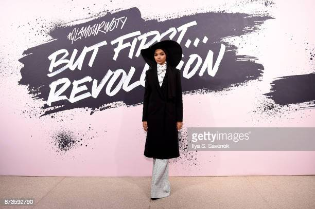 Model and Activist Halima Aden poses during Glamour Celebrates 2017 Women Of The Year Live Summit at Brooklyn Museum on November 13 2017 in New York...