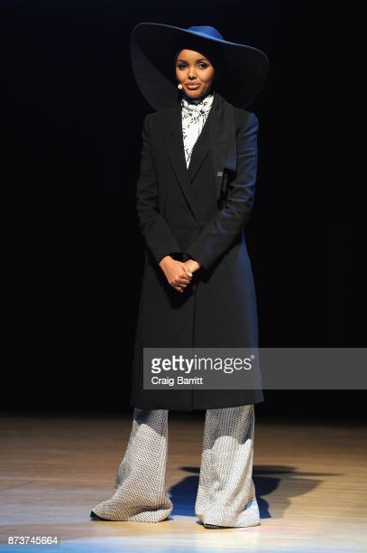 Model and Activist Halima Aden speaks onstage during Glamour Celebrates 2017 Women Of The Year Live Summit at Brooklyn Museum on November 13 2017 in...