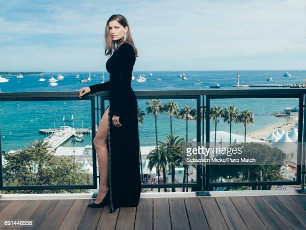 Model and actor Laetitia Casta wearing Boucheron jewellery is photographed for Paris Match on May 21 2017 in Cannes France