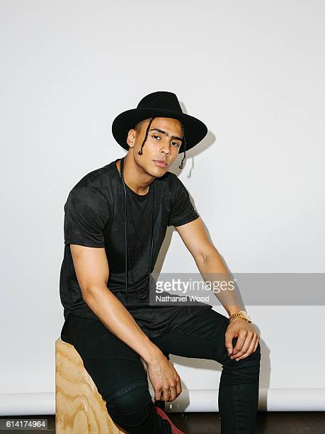 Model and actor Quincy Brown son of model and actress Kim Porter and Sean Combs is photographed for GQcom on June 28 2016 in Los Angeles California