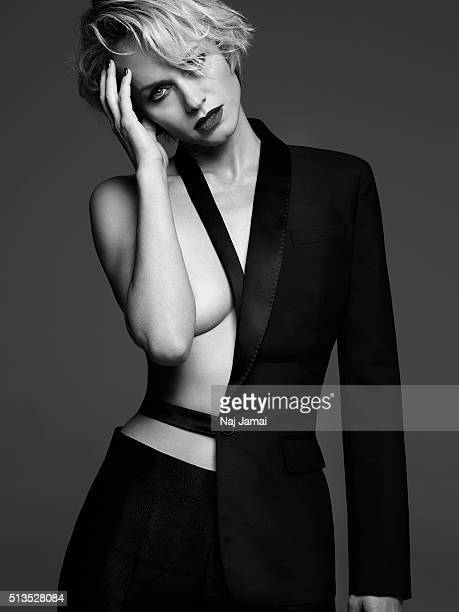 Model and actress Amber Valletta is photographed for Violet Grey Magazine on October 7 2015 in Los Angeles California