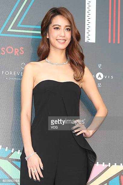 Model and actress Annie Chen attends The Best Fashion Visionaries Award 2016 at Huashan 1914 Creative Park on November 12 2016 in Taipei Taiwan