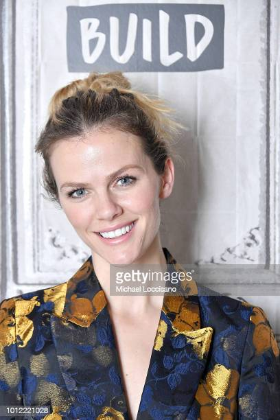Model and actress Brooklyn Decker visits Build to discuss the #BlogHer18 Creators Summit at Build Studio on August 6, 2018 in New York City.