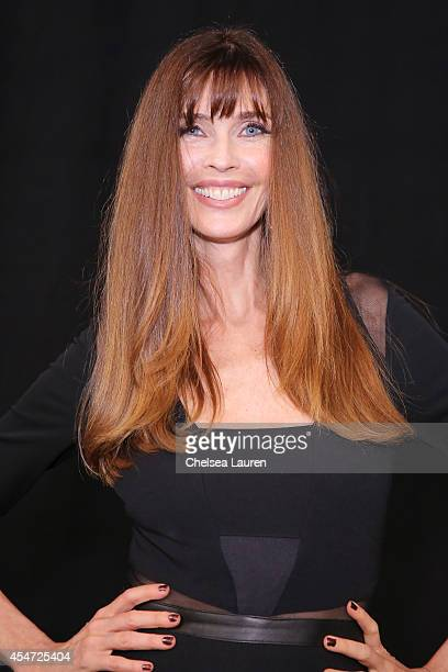 Model and actress Carol Alt backstage at the Nicole Miller fashion show during MercedesBenz Fashion Week Spring 2015 at The Salon at Lincoln Center...