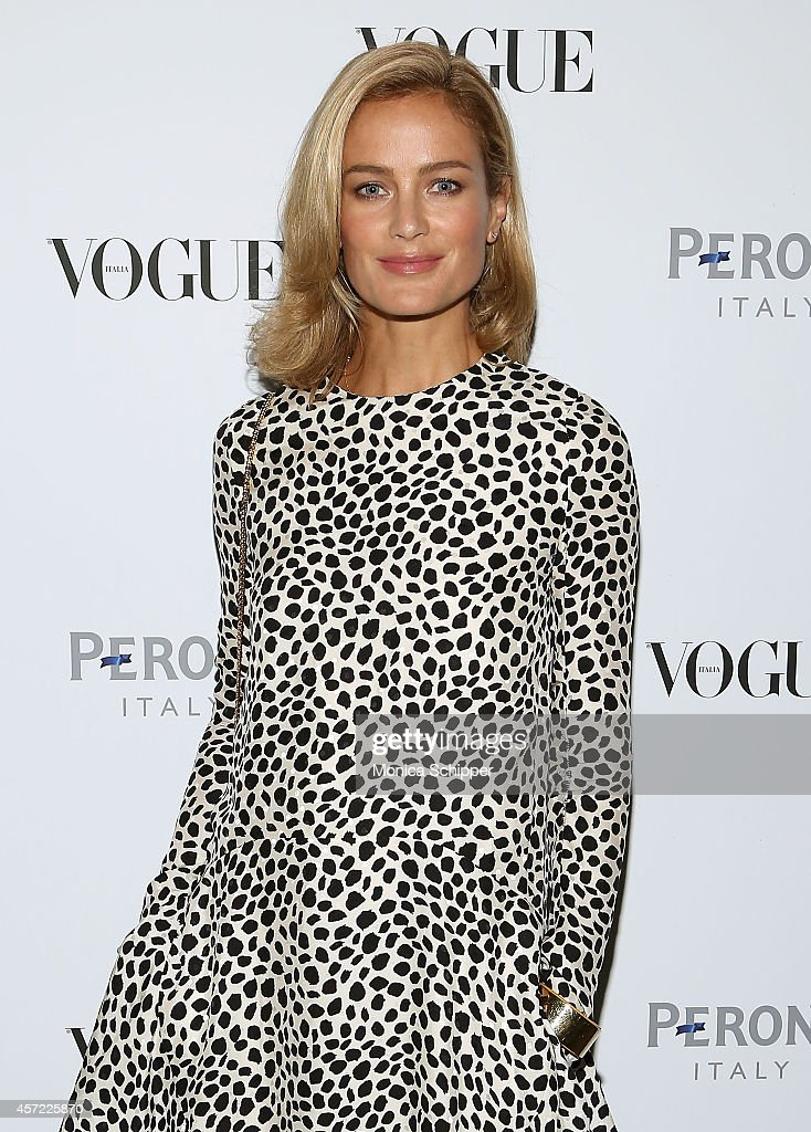 Model and actress Carolyn Murphy attends the Vogue Italia Opening Night Exhibition at Industria Studios on October 14, 2014 in New York City.