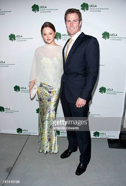 Model and actress Devon Aoki and her husband James Bailey arrive at the UCLA Institute of the Environment and Sustainability Presents An Evening of...