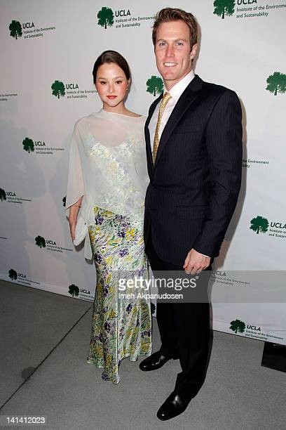 Model and actress Devon Aoki and husband James Bailey arrive at the UCLA Institute of the Environment and Sustainability Presents An Evening of...