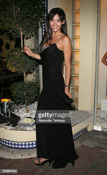 Model and actress Dorismar poses at the grand opeing of the Nicolas Felizola store on April 21 2005 in Coconut Grove Florida